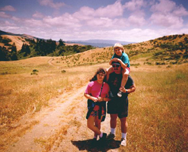 with my kids at Djerassi
